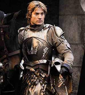 Nikolaj Coster-Waldau as Jamie Lannister in Game of Thrones