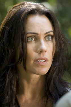 Triassic Attack Syfy Original Movie -- Pictured: Kirsty Mitchell -- Photo by: Syfy