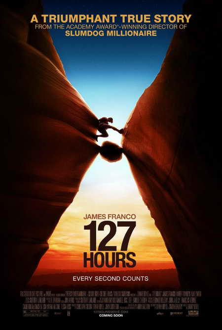 127 Hours movie poster - James Franco stars, a movie from Danny Boyle