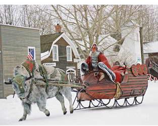 Bill Goldberg as Santa in Santa's Slay, with his buffalo