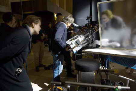 Christopher Nolan and Heath Ledger in The Dark Knight