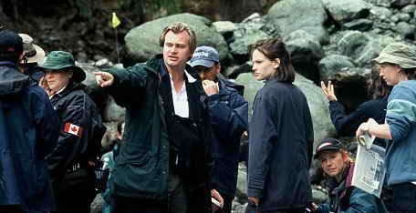 Christopher Nolan and  Hilary Swank in Insomnia