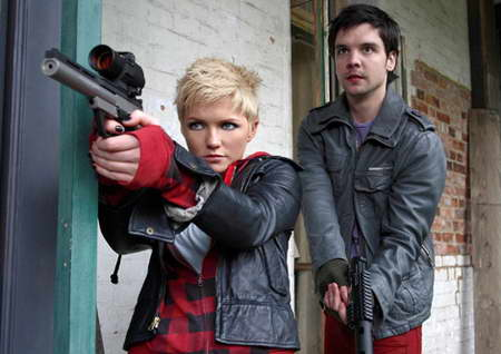 Hannah Spearritt and Andrew-Lee Potts in Primeval