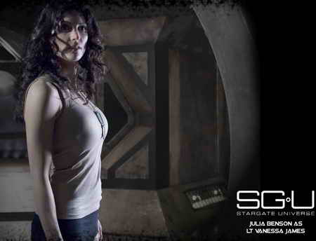 Julia Benson on Stargate Universe on the Syfy Channel