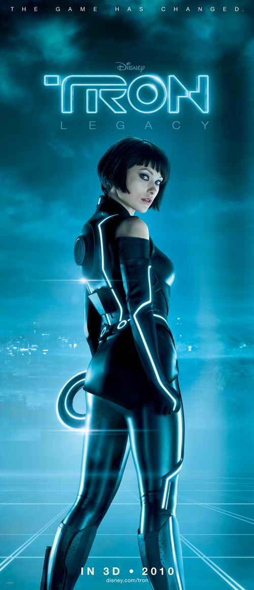 Olivia Wilde Tron Legacy promo movie poster