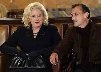 Robert Knepper and Sally Kirkland in Criminal Minds