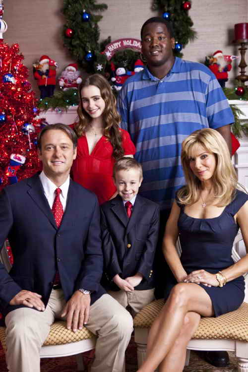 Sandra Bullock, Tim McGraw, Jae Head, Quinton Aaron and Lily Collins in The Blind Side