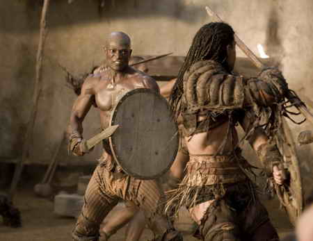Spartacus Gods of the Arena- Episode 1-Peter Mensah as Oenonaus