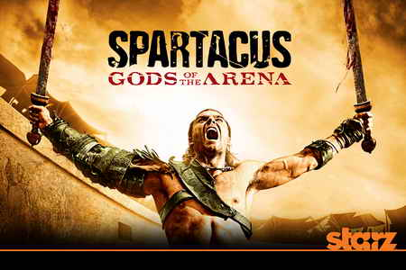 Spartacus Gods of the Arena promo art series logo