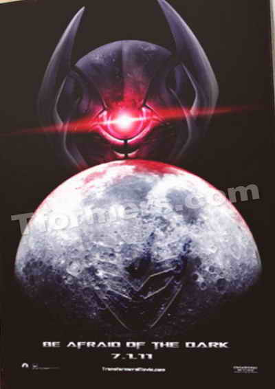 Transformers 3 Dark of the Moon promo art poster