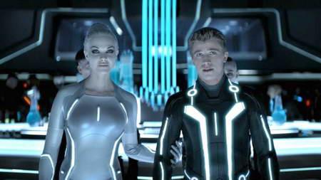 Tron Legacy - Garrett Hedlund and Beau Garrett