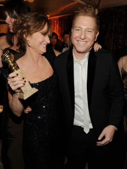 BEVERLY HILLS, CA - JANUARY 16:  Actress Melissa Leo (L) and Relativity Media's Ryan Kavanaugh attend Relativity Media and The Weinstein Company's 2011 Golden Globe Awards After Party presented by Marie Claire held at The Beverly Hilton hotel on January 16, 2011 in Beverly Hills, California.  (Photo by Frazer Harrison/Getty Images for Relativity Media)