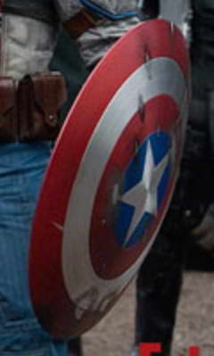 Captain America first look Costume Shield 2
