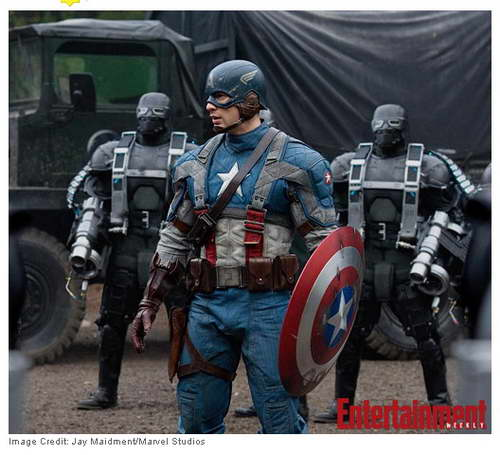 Captain America first look Costume, Chris Evans as Captain America