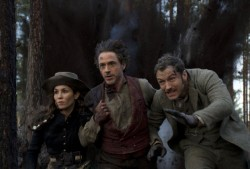 Noomi Rapace, Robert Downey Jr. and Jude Law in the Sherlock Holmes Sequel
