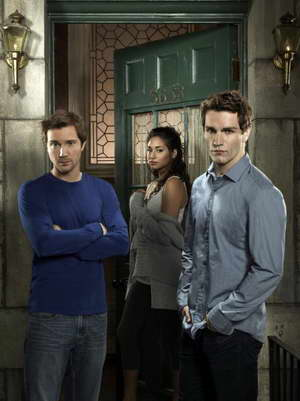 Sam Huntington, Meaghan Rath and Sam Witwer in Being Human