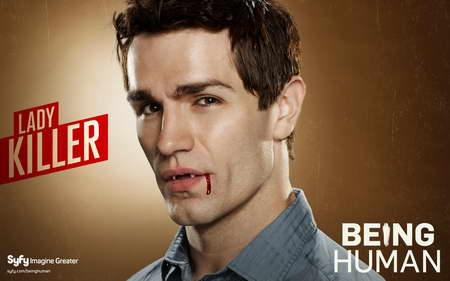 Sam Witwer as Aidan in Syfy's Being Human