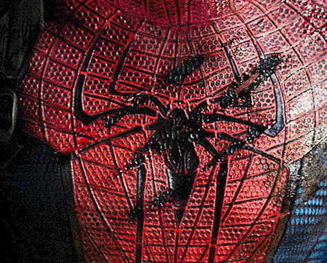 Spider-Man Official first look at Andrew Garfield's chest emblem