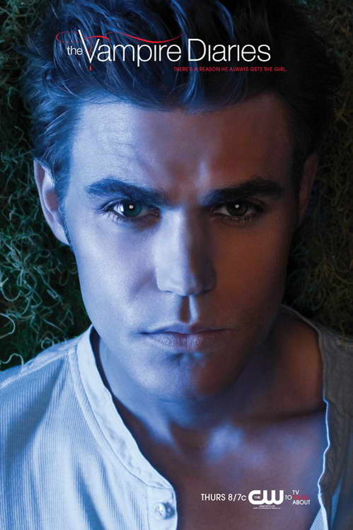 paul wesley the vampire diaries promo art