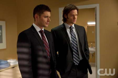 ensen Ackles as Dean, Jared Padalecki as Sam in SUPERNATURAL,
