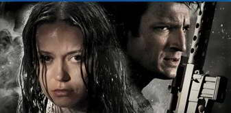 Summer Glau and Nathan Fillion, two stars from 'Firefly' Series from Joss Whedon