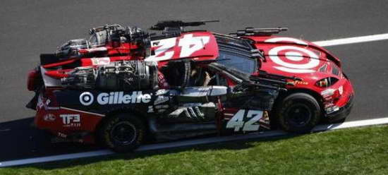 'Transformers 3' NASCAR Wrecker Leadfoot No 42 Juan Pablo Montoya Chevy at the Daytona 500