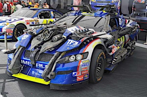 'Transformers 3' NASCAR Wrecker Topspin No 48 Jimmie Johnson Chevy at the Daytona 500