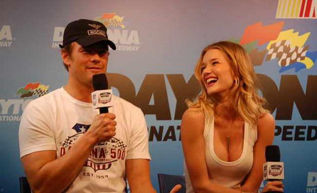 'Transformers 3' stars Josh Duhamel and Rosie Huntington-Whiteley At The Daytona 500 - cinema static 01p