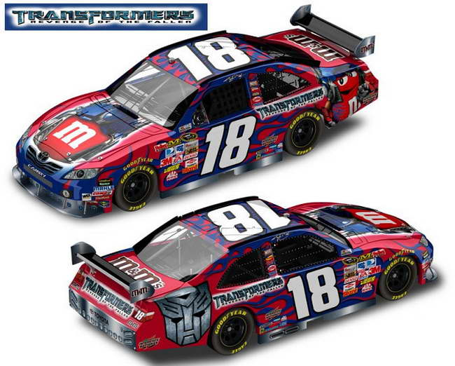 transformers 2 rotf nascar No 18 Kyle Busch car