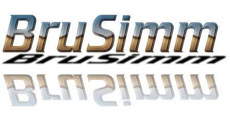 Brusimm cool metal logo