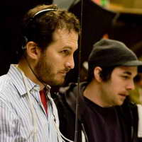 Darren Aronofsky on-set directing 'The Wrestler'