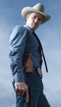 JUSTIFIED: Timothy Olyphant as Raylan Givens. CR: Mark Seliger/ FX