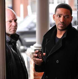 Laz Alonso and Domenick Lombardozzi in 'Breakout Kings'