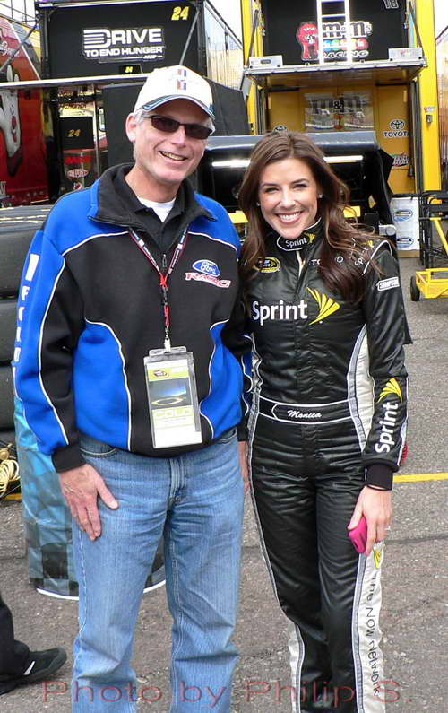 Monica Palumbo NASCAR Sprint Cup Girl fan photo