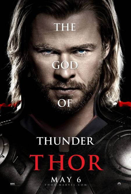 'Thor' movie poster God of Thunder Character sheet