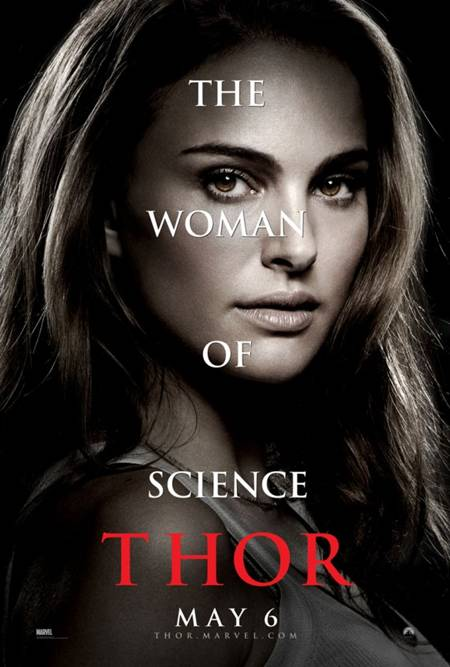 Thor movie poster Natalie Portman Woman of Science character sheet