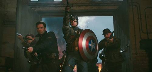 Captain America The First Avenger still no 1 with Chris Evans