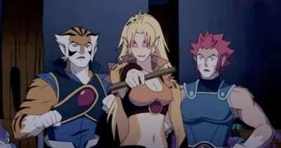 Cheetara, Tigra and Lion-O in the new animated THUNDERCATS from Cartoon Network