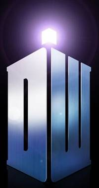 'Doctor Who' Tardis-shaped logo