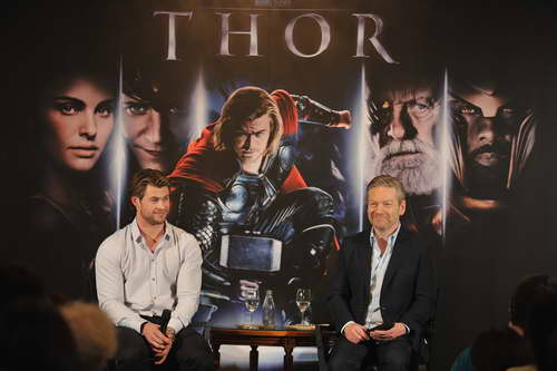 'Thor' Press with Chris Hemsworth and Kenneth Branagh