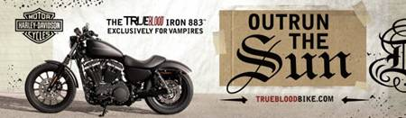 'True Blood' Harley Davidson ad