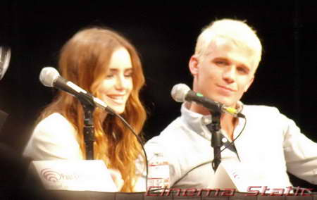 a Wondercon PRIEST panel w Lily Collins and Cam Gigandet P4027268