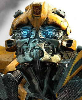 'transformers 3' bumblebee head shot