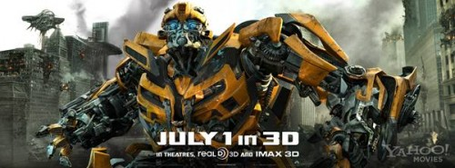 'Transformers 3' promo banner bumblebee 01 600w