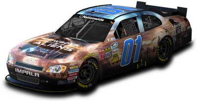 COWBOYS and ALIENS NASCAR NNS paint scheme