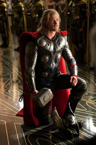 Chris Hemsworth as 'Thor,' the God of Thunder