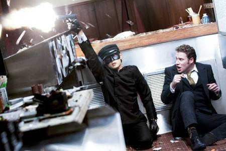 Jay Chou and Seth Rogen in 'The Green Hornet'