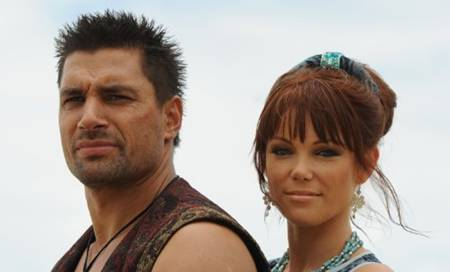 Manu Bennett and Holly Brisley in