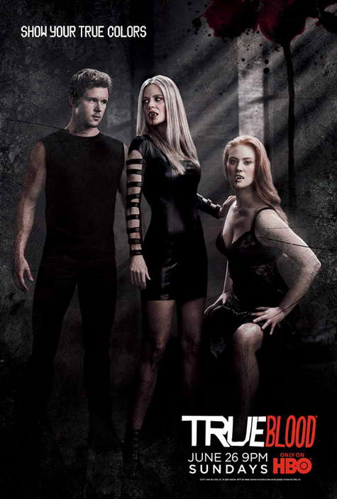"""True Blood"" HBO Promo Art BLACK"
