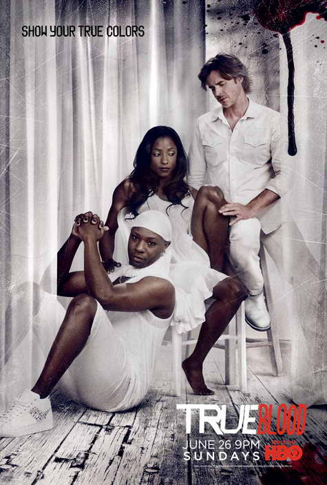 """True Blood"" HBO Promo Art WHITE"